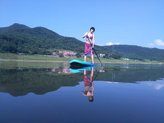 松花湖桨板体验,向水而生的自由生活