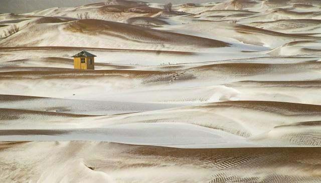 疯狂冬季,腾格里沙漠徒步迎新年活动