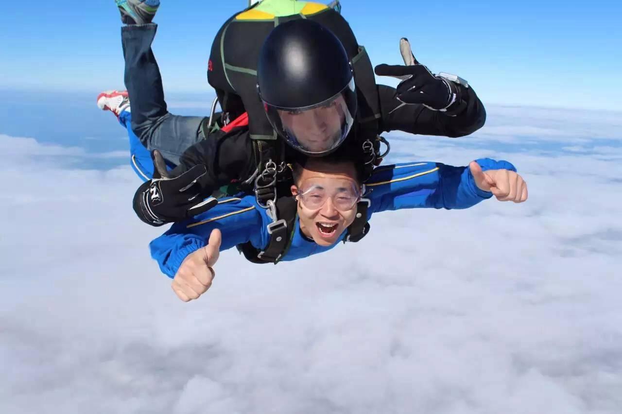 3000米高空跳伞体验