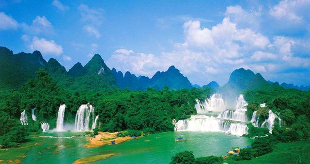 亚洲第一大跨国瀑布广西德天瀑布,花千骨拍摄地,美出新高度