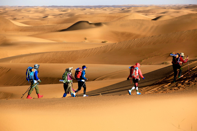 腾格里沙漠徒步英雄会,等你来战