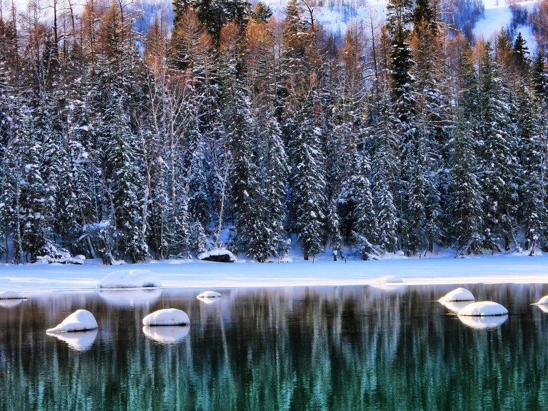 发现之旅  童话王国-冬季喀纳斯,乘坐越野车去雪地上撒野!