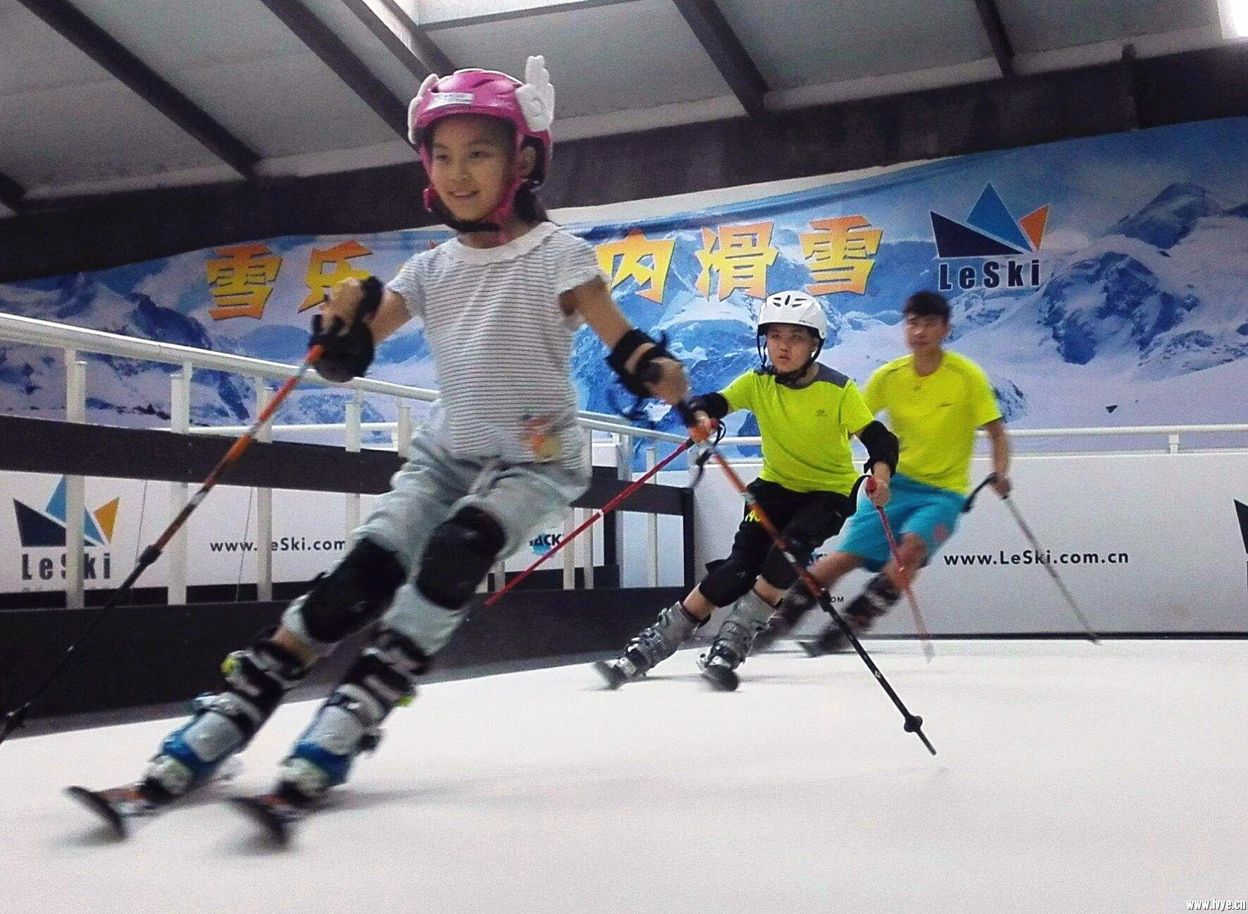 雪乐山室内滑雪体验券,夏天也能滑雪!