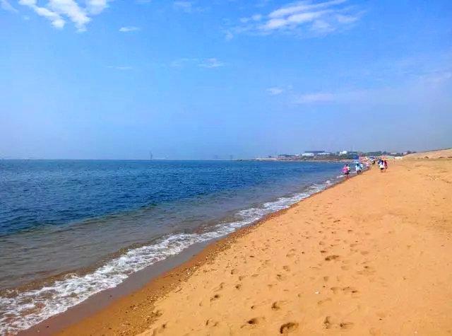 原生态海滩东戴河,碧海蓝天晒日光浴,北京行摄-砾石网
