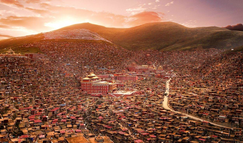 秘境环线A线,莫斯卡、党岭、色达、丹巴藏寨最自然原始风景环游