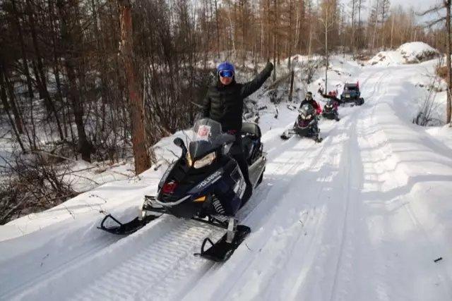长白山原始森林雪地摩托穿越之旅