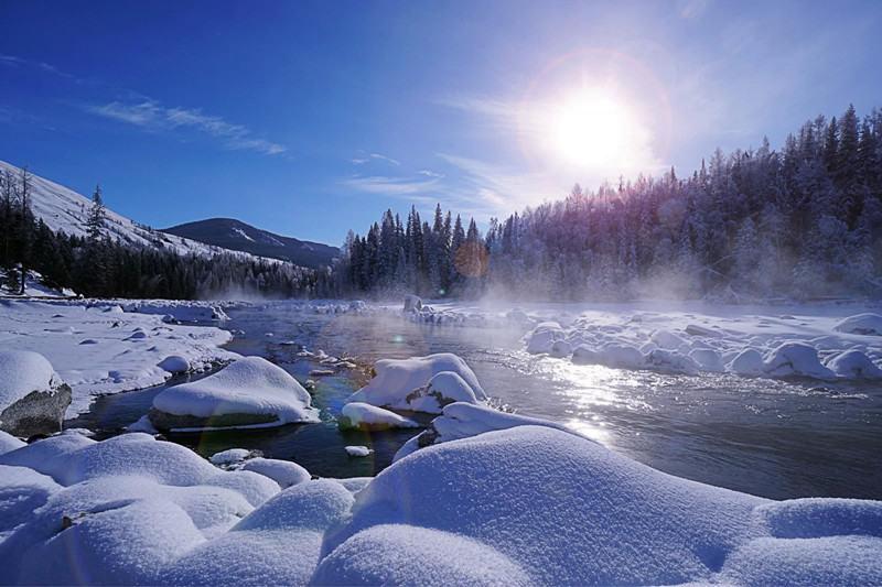 冬日牧歌,你的童话我在喀纳斯等你看雪