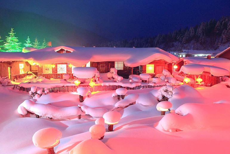 滑雪、雾凇、东升、雪乡、吉林滑雪、雾凇岛 5日活动(篝火晚会、包饺子活动)