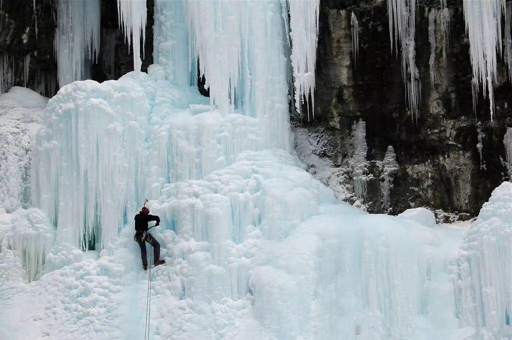 攀冰季已开始,我们在金祖山攀冰场等你