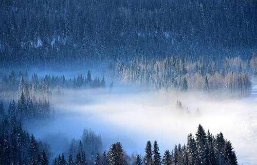 冬日神秘的新疆喀纳斯,竟然还藏着世界尽头和冷酷仙境!