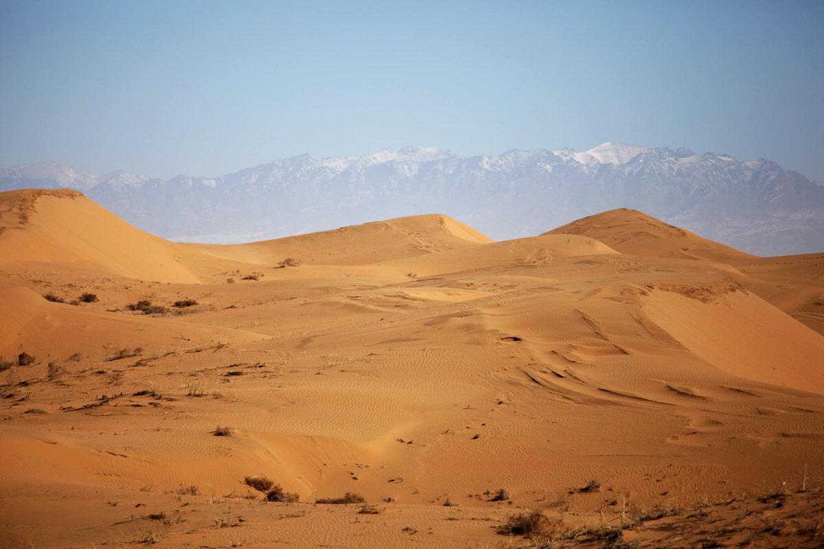 那是时常在梦里出现一幅动人的画面——腾格里沙漠